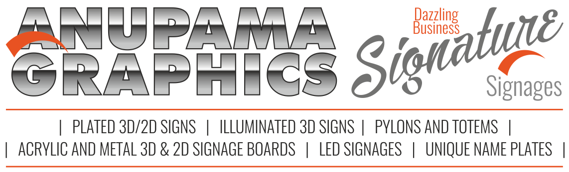 Signage Solution |Acrylic Letters |LED Boards |Laser Cutting |CNC Engraving|India
